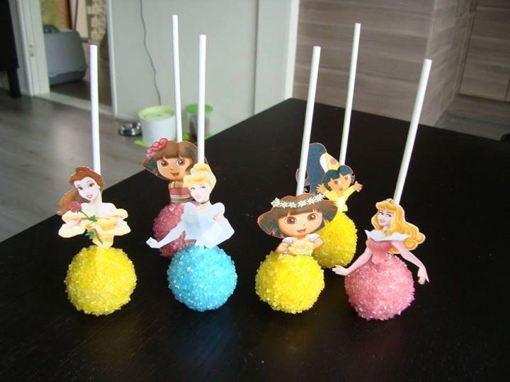 Prinsessen en dora cake pops