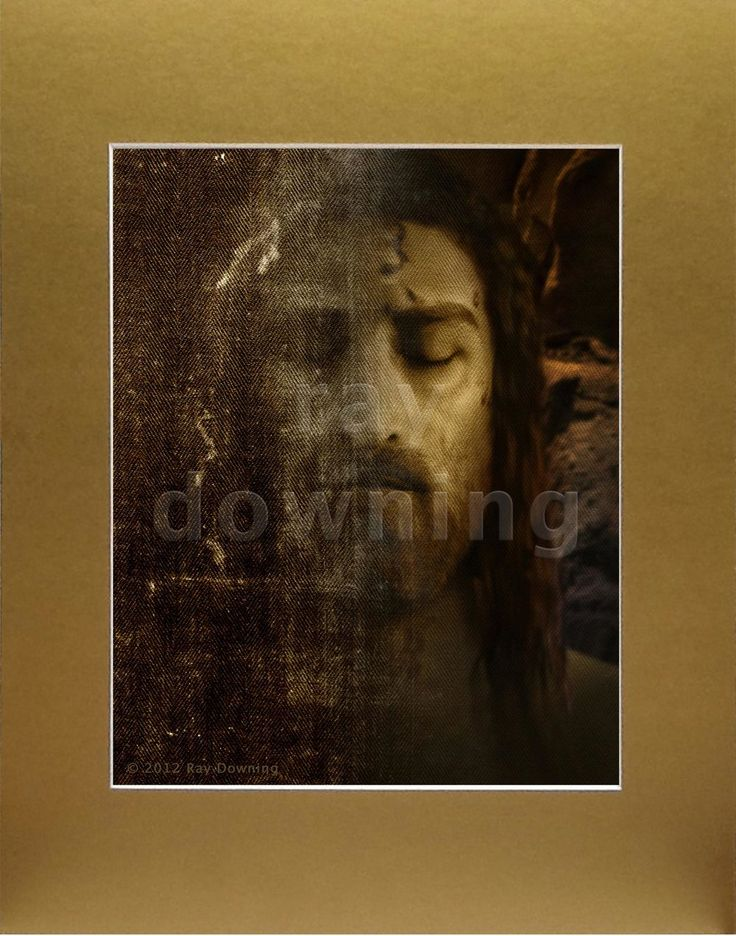 Picture of Christ based on the Shroud of Turin by Emmy winner 3D computer  graphics artist Ray Downing.