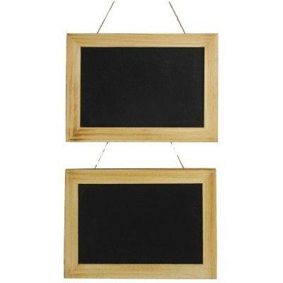 Large Framed Display Chalkboards, Pack of 2