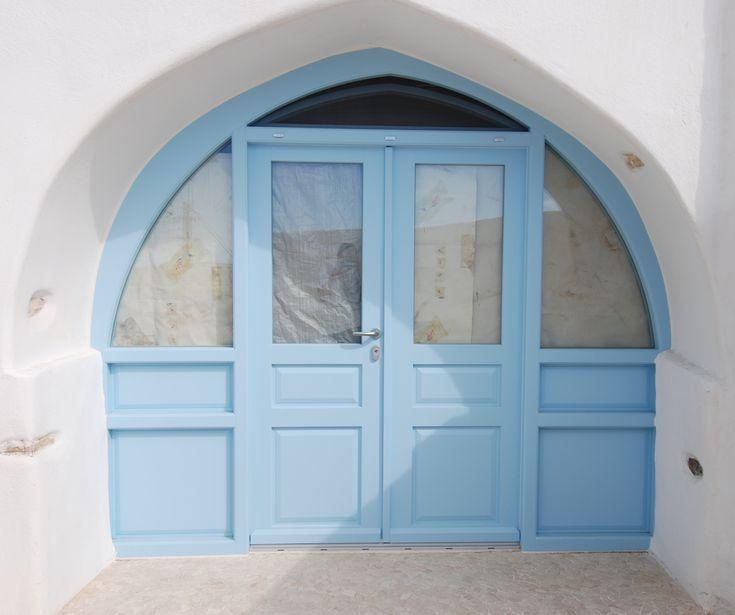 Ειδικές ξυλινες κατασκευές | Door with arch | Kritikoswood | Accoya