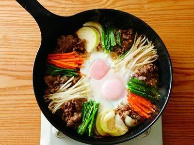 大庭 英子 さんの牛切り落とし肉を使った「韓国風すき焼き」。韓国風の甘辛味に下味をつけた牛肉と、細切りにした野菜を彩りよく並べれば、見た目も味も、ばっちり! NHK「きょうの料理」で放送された料理レシピや献立が満載。
