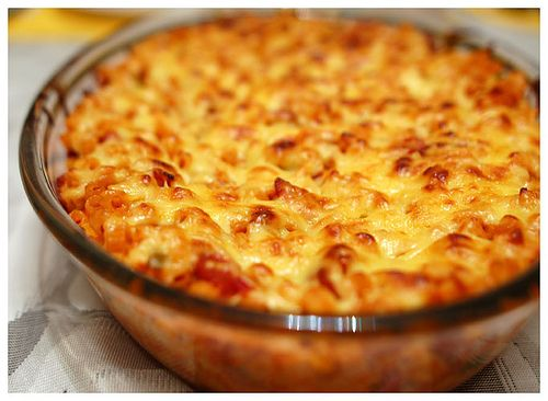 Baked macaroni as only made by my cook in my kitchen.  Runner up is Conti's.