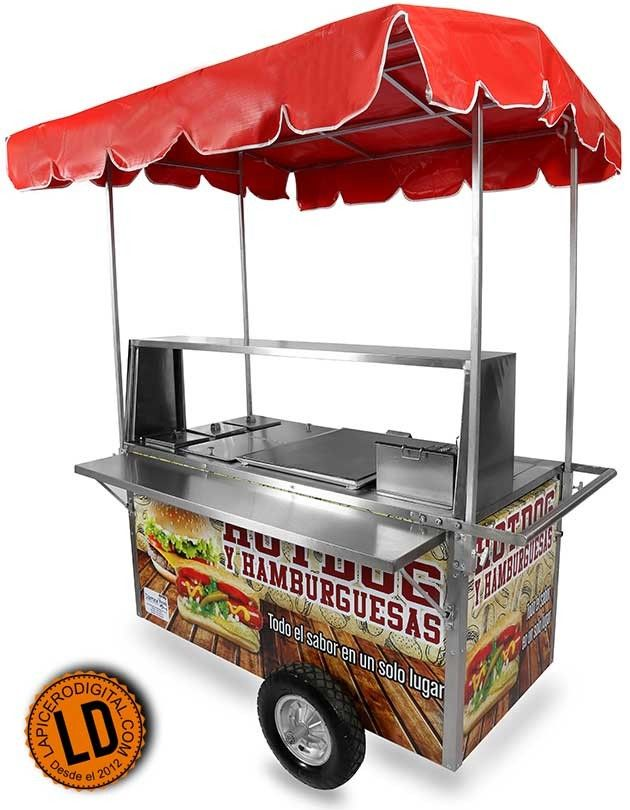 Hotdog Burgers And Fries All In One Cart Available From Eurocarts