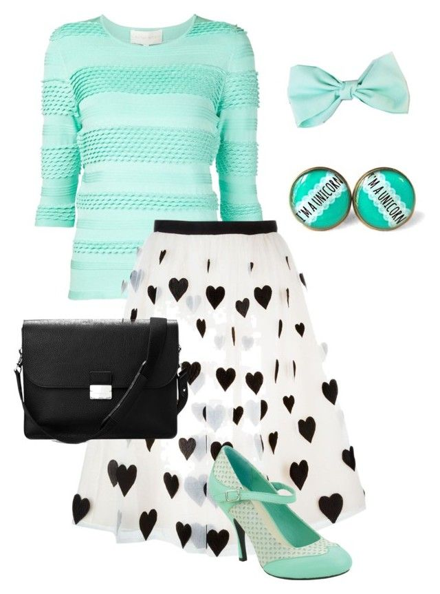 Decisamente verde menta by rainbowfra on Polyvore featuring polyvore fashion style Christian V Siriano Alice + Olivia T.U.K. Aspinal of London clothing