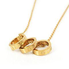 Da donna Collane con ciondolo / Acciaio inossidabile Placcato in oro Euramerican Di tendenza Argento Dorato Oro rosa GioielliMatrimonio