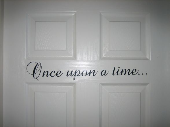 Great quote to put on the door, could do one for each themed room door, make it easier to remember which room is yours :-)