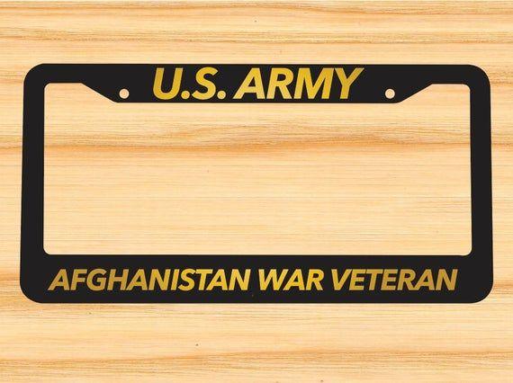 U.S Army Veteran Black License Plate Frame