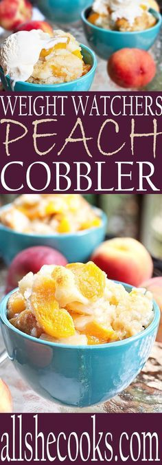 Now you can eat one of your favorites on Weight Watchers diet. Weight Watchers Peach Cobbler recipe is easy and delicious. Just make sure to use small bowls!