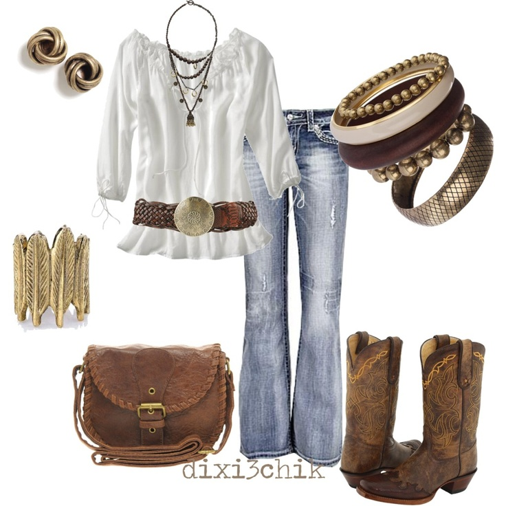 Boots - Polyvore - I need some cowboy boots | Fav Outfits | Pinterest | The cowboy Love this ...