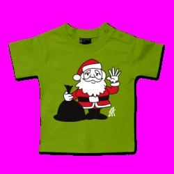 Santa Claus Baby T-shirt. #Shirtcity #Cardvibes #Tekenaartje #Christmas #Kerstmis #Kerstman #Santa