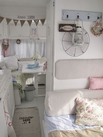 Shabby Chic Camper for camping. Great glamping photo