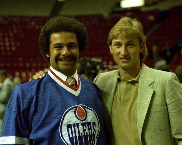 Grant Fuhr and Wayne Gretzky - Edmonton Oilers