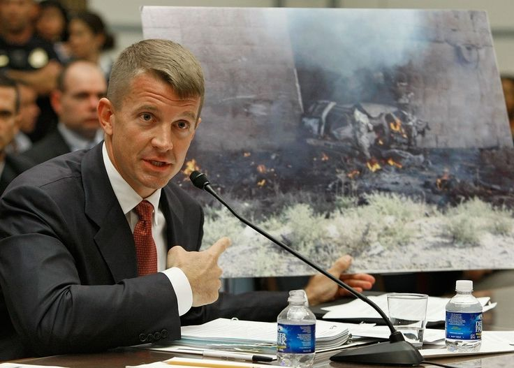 And now the Trump-Russia connections include notorious Blackwater founder Erik Prince .  The United Arab Emirates arranged a secret meeting in January between Blackwater founder Erik Prince and a ...