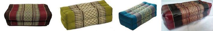 Thai Pillow Headrest Bloster Meditation Cushion with Kapok100% Cotton Day Bed #Handmade #ArtDecoStyle
