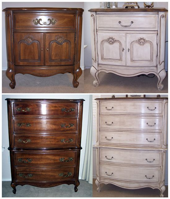 Lessons in Chalk Paint - My first project using Chalk Paint was a French Provencal bedroom set that I found on Craigslist. There were three pieces: a side table…
