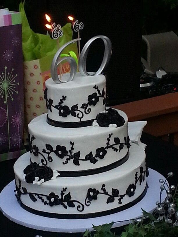 60 Th Birthday Party Cake