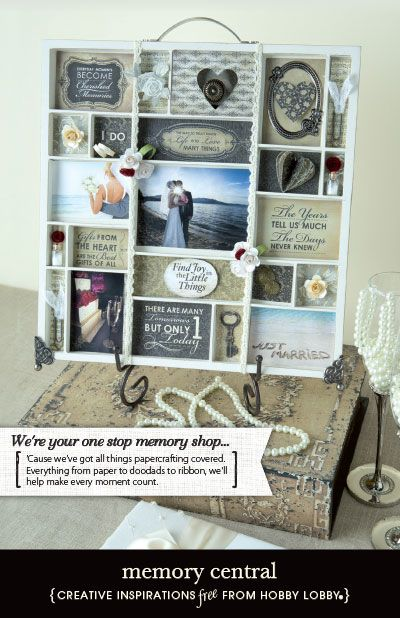 A memory tray filled with photos and mementos makes a beautiful wedding day keepsake.