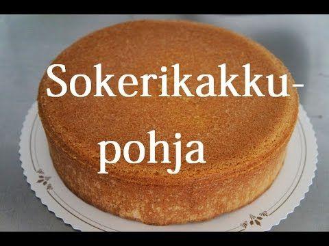 Kakkumonsteri: Perus sokerikakkupohja (video)
