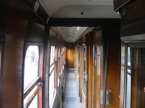 I remember when the trains had corridors before entering the carriage. Sitting in the compartments with, maybe, six or eight passengers to a compartment and the luggage stored overhead.