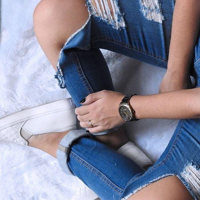 #jeans #despojada #look #tenis #tenisbranco #love #relogio #azul #cool #loveit…