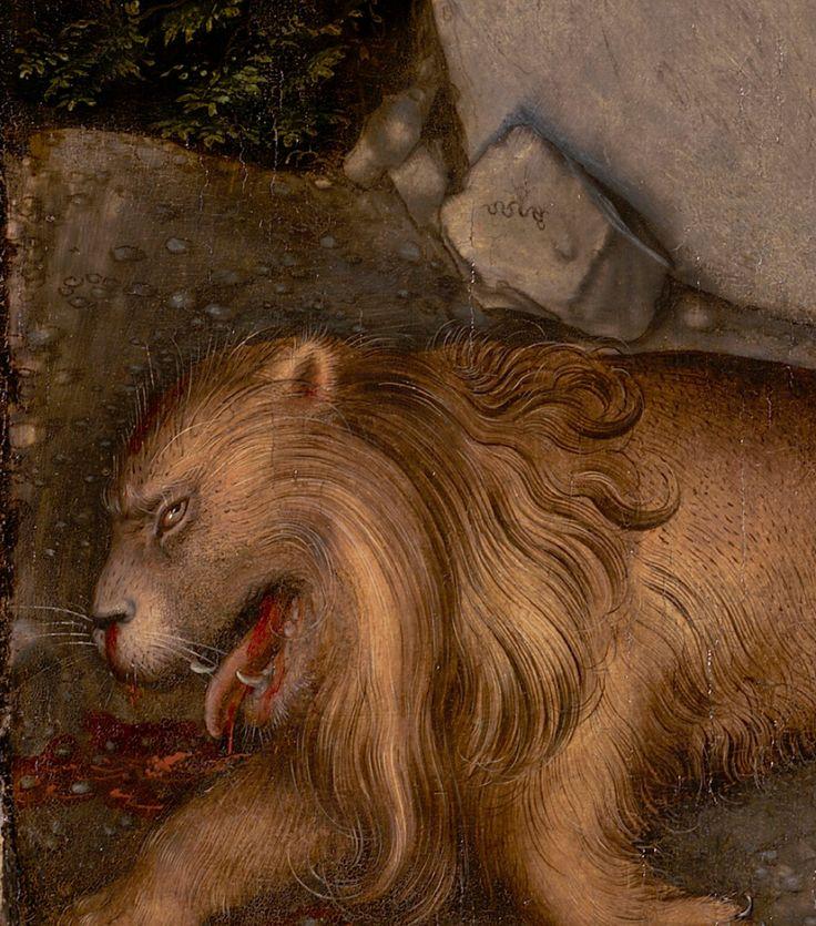 Lucas Cranach the Elder – A Faun and His Family with a Slain Lion, 1526