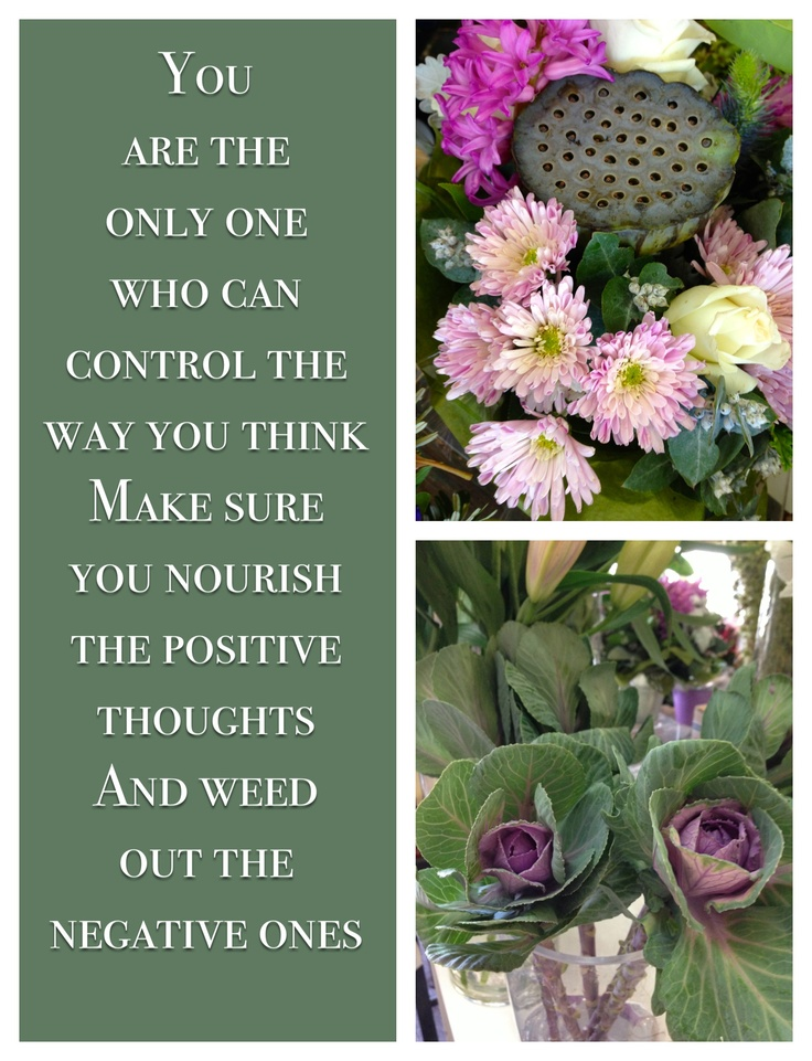 Always be positive.