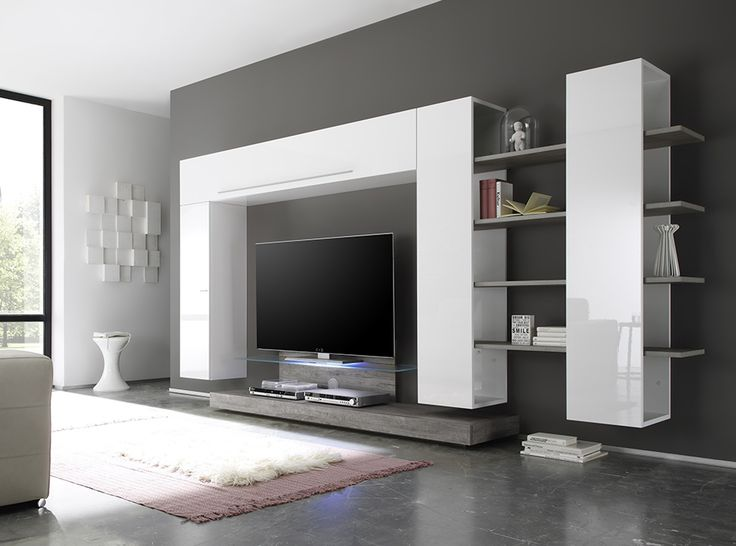 LC Mobili Modern Wall Unit Line 2