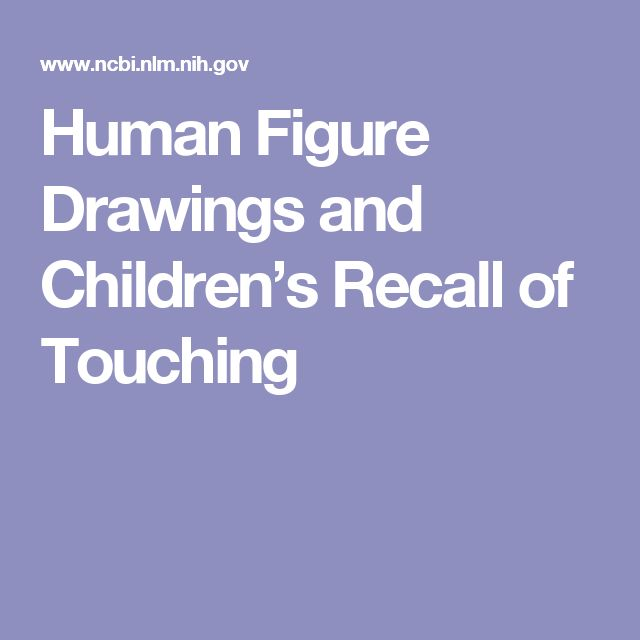 Human Figure Drawings and Children's Recall of Touching