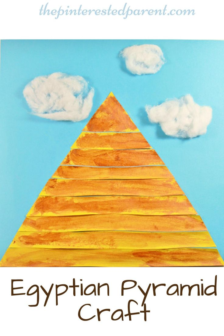 Egyptian pyramid craft for kids - preschooler arts & craft activities - Egypt