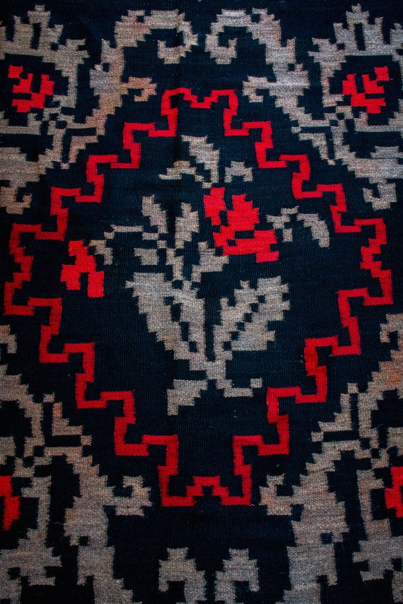 Romanian vintage rug by ArtisanBoutiq on Etsy