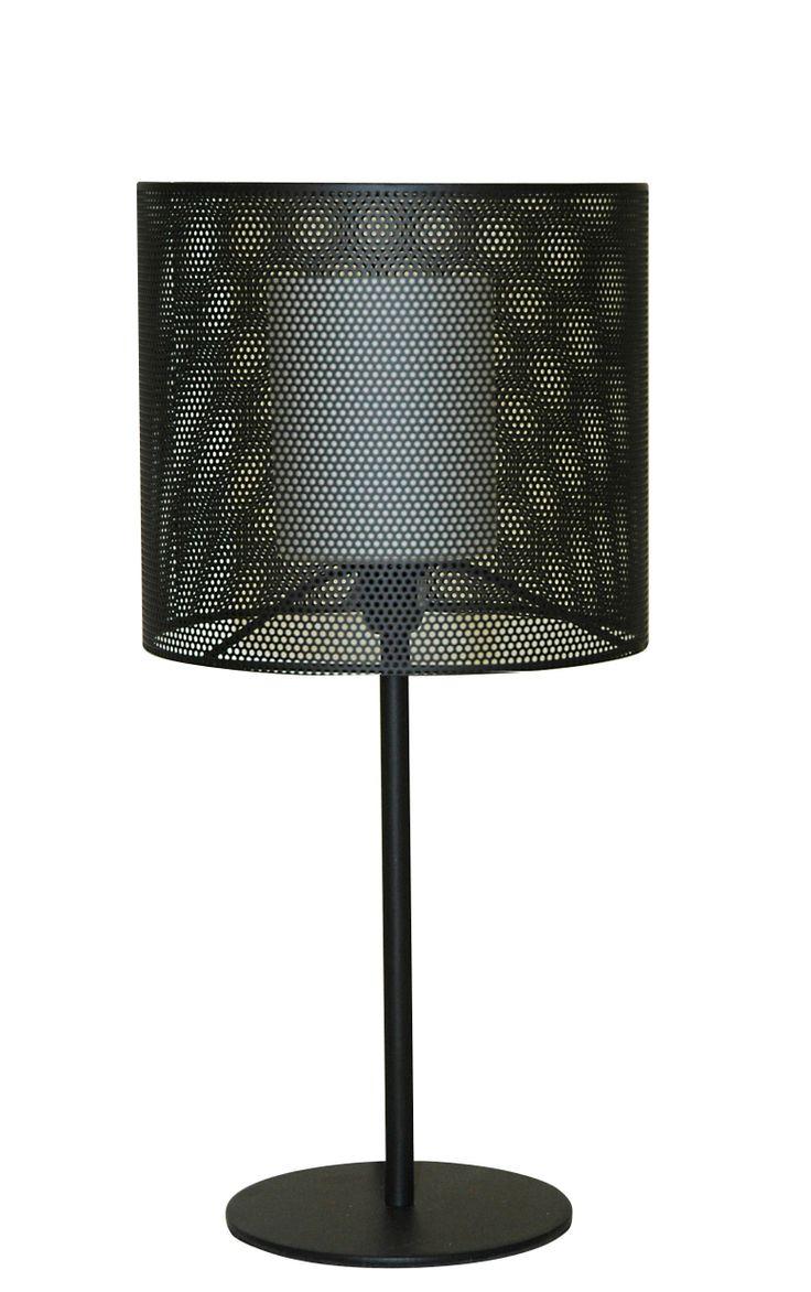 Black iron table lamp - Searchlight 1138bk Meshi 1 Light Black Mesh Table Lamp