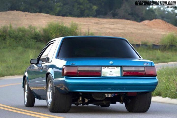 Mini Tub Coupe Ford Mustang Car Mustang Cars Fox Body