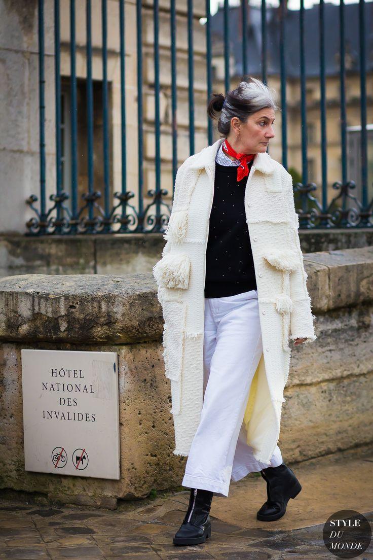 Haute Couture Spring 2016 Street Style: Sophie Fontanel - STYLE DU MONDE | Street Style Street Fashion Photos