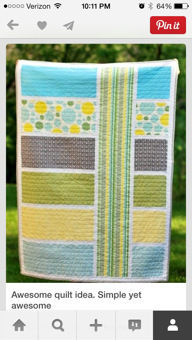 I love this quilt. So cute.