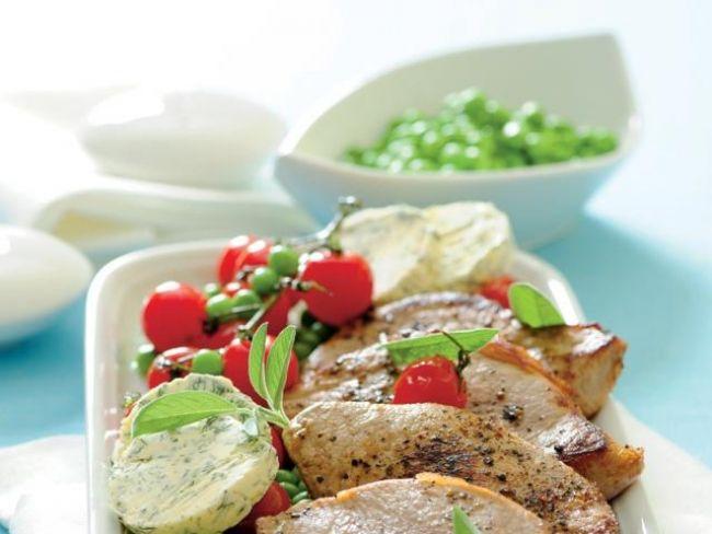 Sznycle cielęce z masłem ziołowym, dania główne, dania z cielęciny
