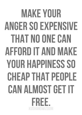 Expensive anger.