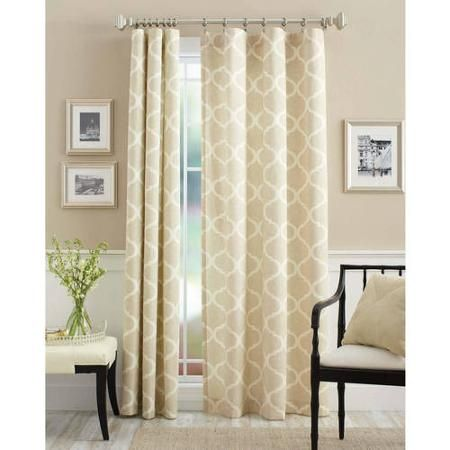 Better Homes And Gardens Canvas Iron Work Curtain Panel