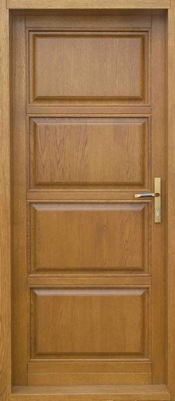 Traditional 4 panels / Varnished Doors at Cerberusdoors.co.uk.