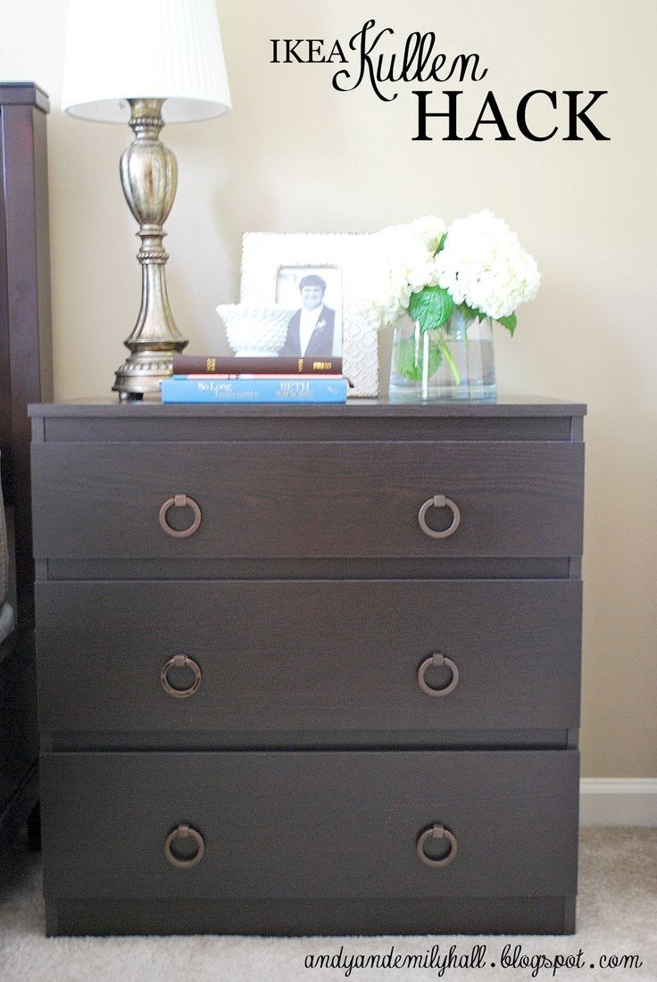 The Halls Ikea Kullen Night Stand Hack Ikea Furniture Makeover