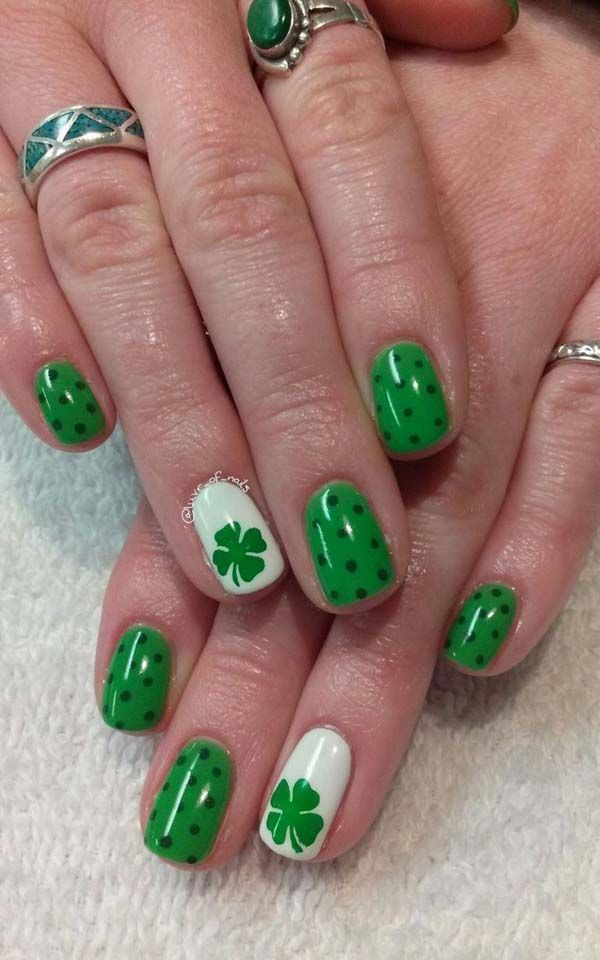 21 St Patrick S Day Nail Ideas That Will Make You Feel Great In Green In 2020 St Patricks Day Nails St Patricks Nail Designs Green Nails