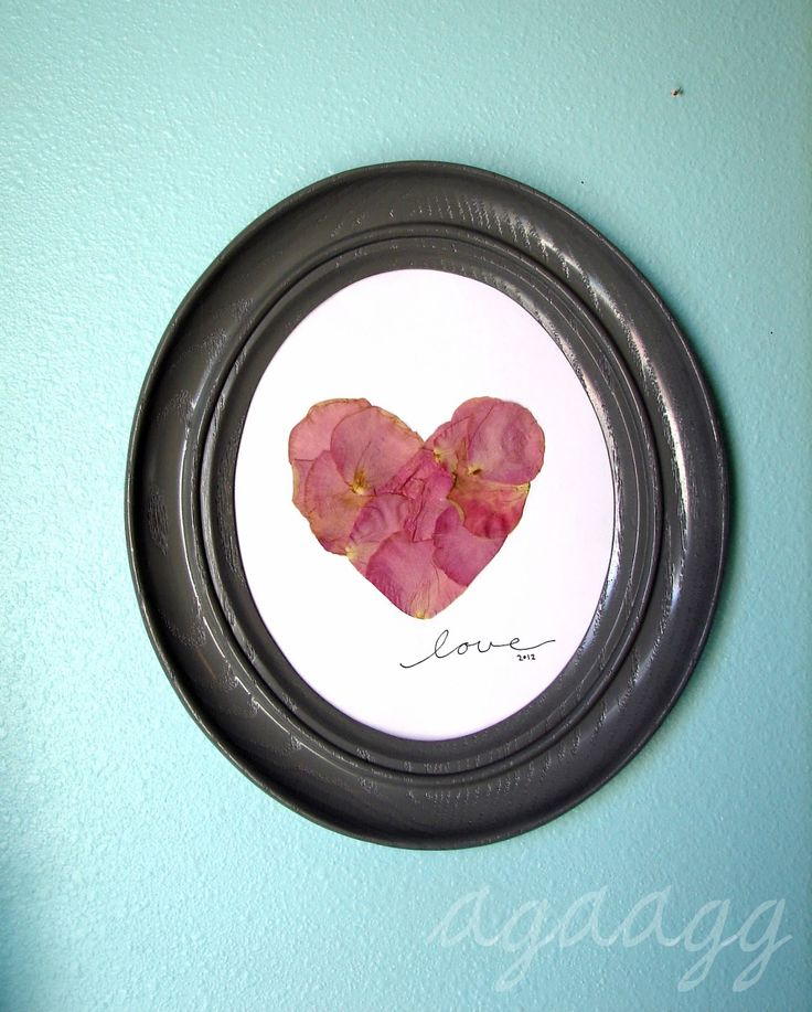 pressed rose petals... how pretty a way to keep a special gift