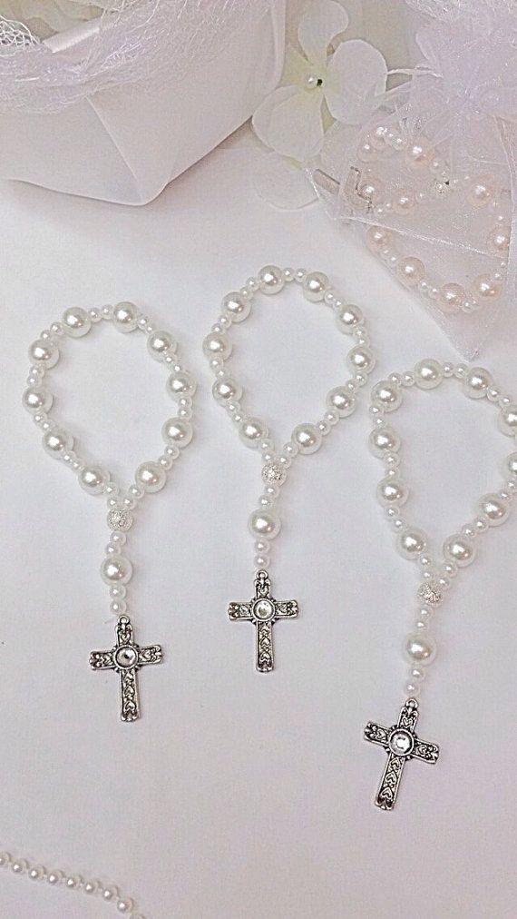 Pulseras rosario de perlas de cristal hermoso. por Beautifyyou