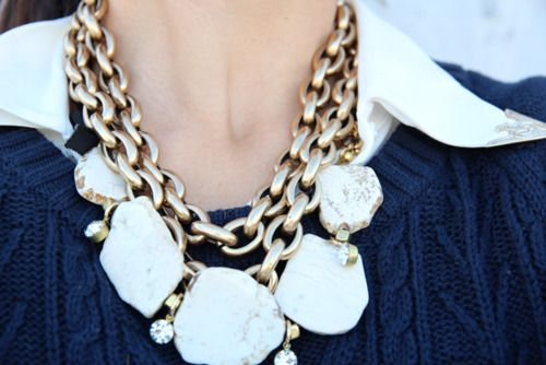 chunky necklace...love it too mucxh