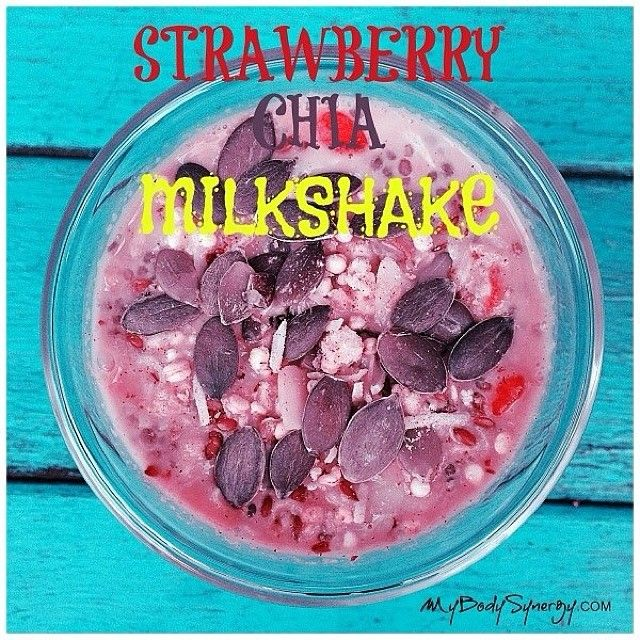 This is one of my trade secrets for #healthyweightloss. My Four Ingredient Strawberry Weightloss Milkshake.  Blend: 1 cup frozen strawberries 1 cup coconut milk 1-2 teaspoons organic honey 1-2 tablespoons chia seeds Top with your fave Superfoods and enjoy! http://kyliepax.com/ #ditchthediet #livehealthy #eatrealfood #healthydiet #healthyliving #loveyourbody