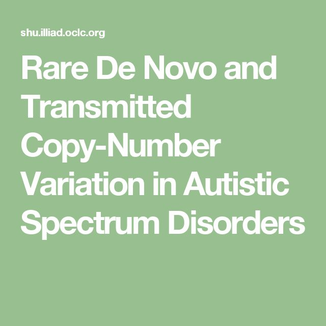 Rare De Novo and Transmitted Copy-Number Variation in Autistic Spectrum Disorders