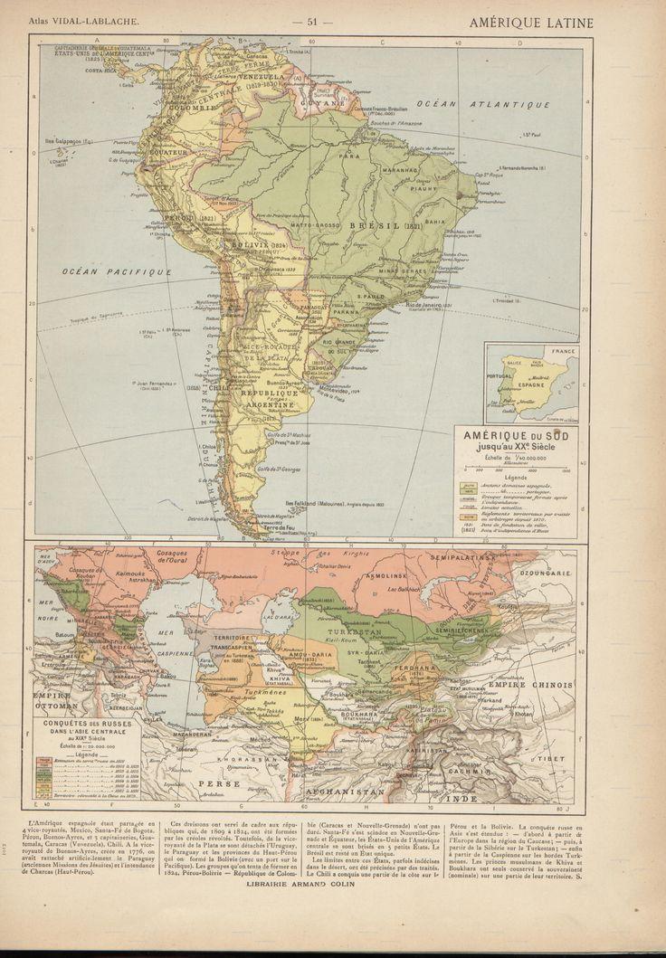 Antiguos mapas de Amrica del sur 44
