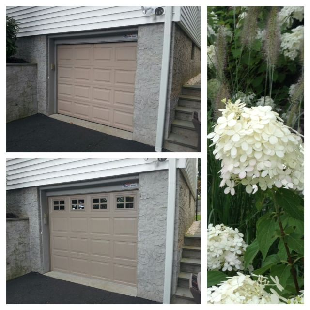 Before after installation look how much a row of for How much is garage door installation