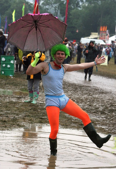 Dancing in the Glastonbury mud...
