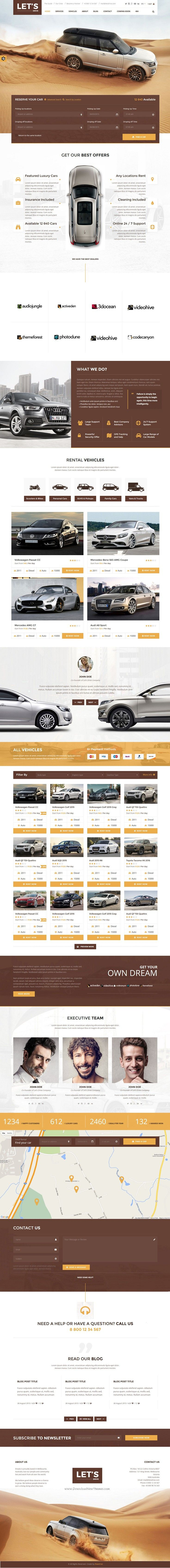 Let s drive amazing car rental sale html5 template