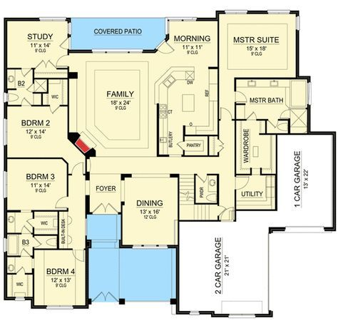 House Plans With Media Room 4522 best house plans images on pinterest | dream house plans
